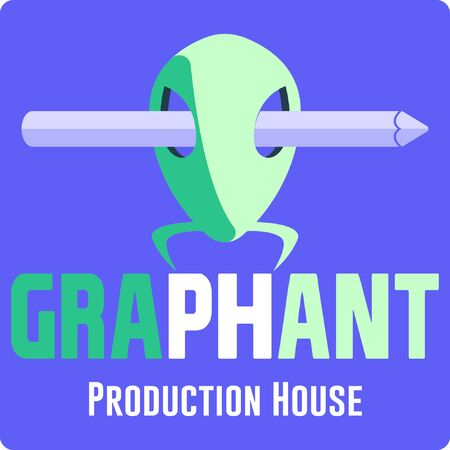 Graphic of Ants Production House Logo with Skull and Pencil symbols.