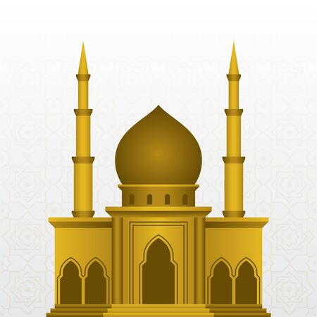 islamic mosque design vector illustration