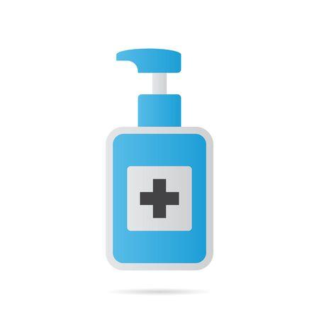 disinfection hand sanitizer design illustration
