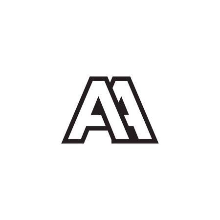 A A lines letter lines logo design vector