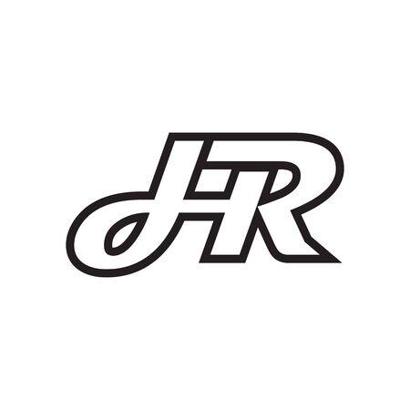 H R script letter lines design vector Vektoros illusztráció
