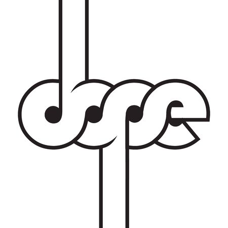 dope lines word vector background