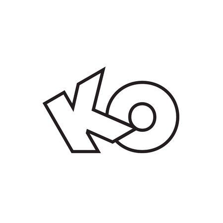 K O lines design vector