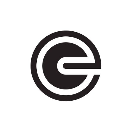 circle E lowercase letter design vector
