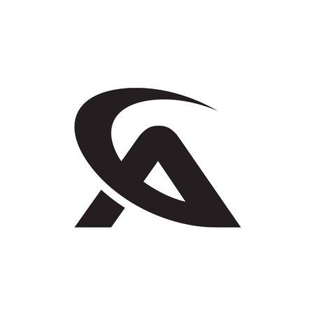 swoosh letter A. business logo design concept