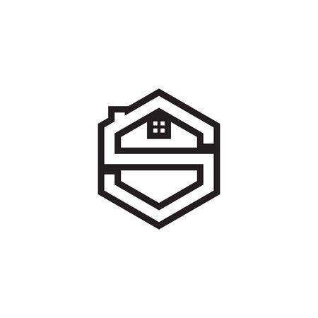 S lines hexagon home design concept