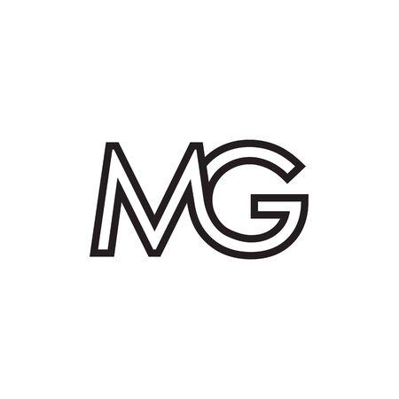M G lines letter design vector Vektorové ilustrace