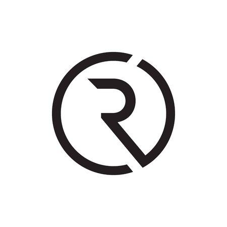 R / C R circle logo design vector Logó