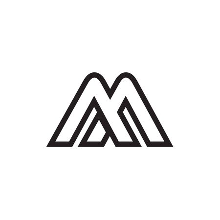 M / A A / A M / M A letter lines design vector