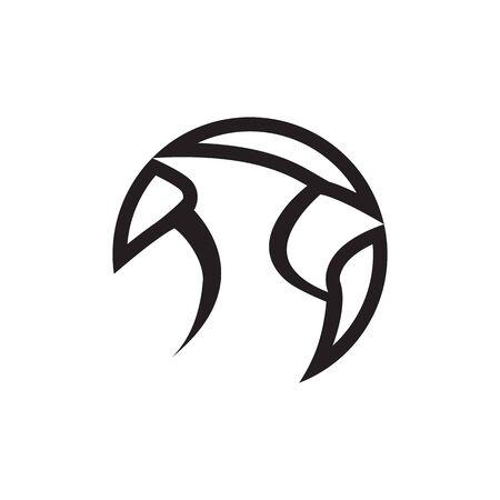 lines bird cardinal icon symbol vector on white background Ilustracje wektorowe