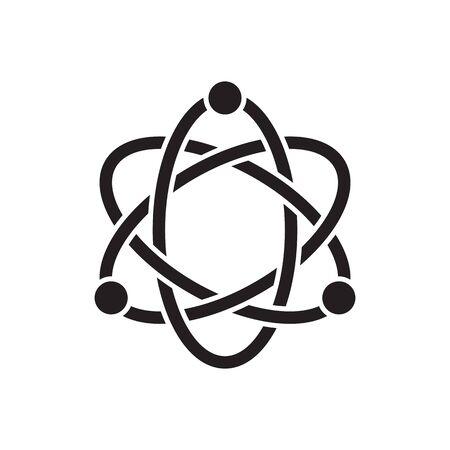 atom structure design concept vector illustration