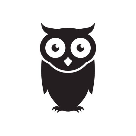 simple owl bird vector isolated on white background