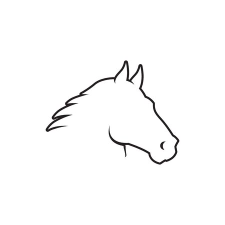 lines icon horse head icon vector isolated on white background