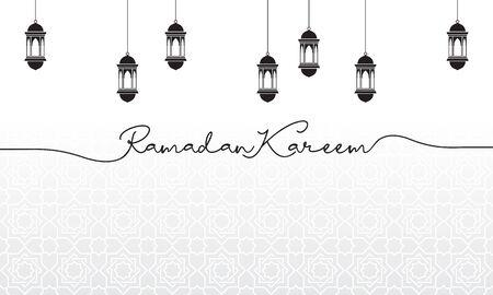 islamic greeting card ramadan kareem design template Ilustracja