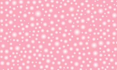 pink background with sparkling dots design vector