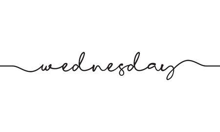 wednesday word handwritten design vector