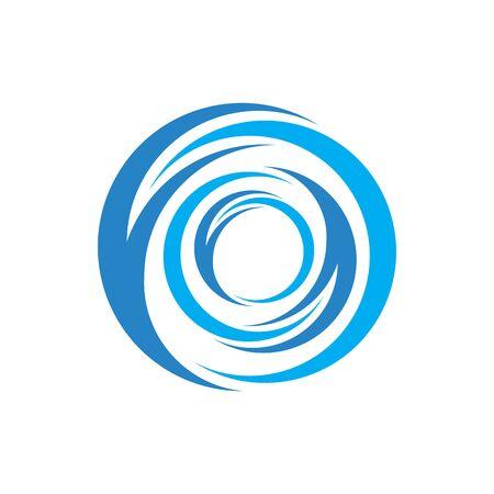 abctract blue whirlpool swoosh design vector illustration