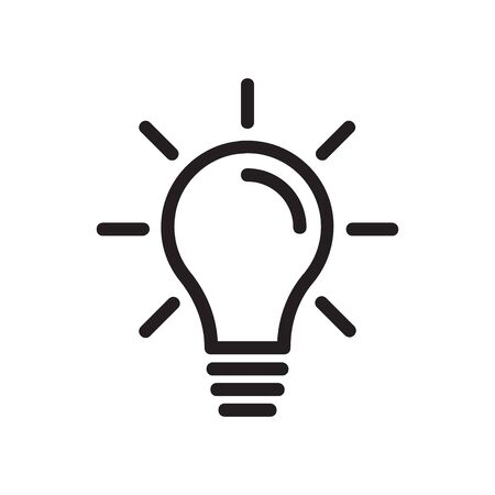 lightbulb icon vector isolated on white background