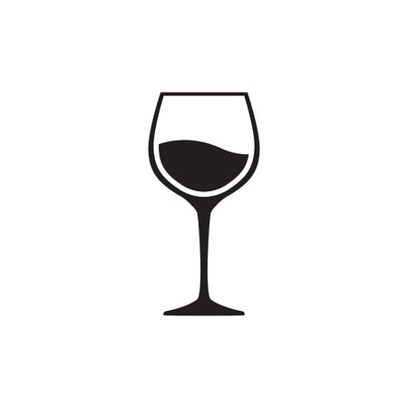 wineglas icon vector isolated on white background