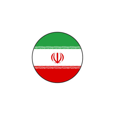 circle flag iran design vector illustration