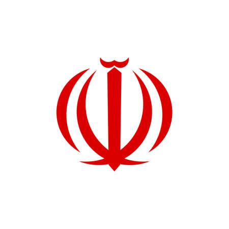 emblem of iran. symbol iranian design vector. Illusztráció