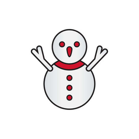 snowman icon design vector illustration
