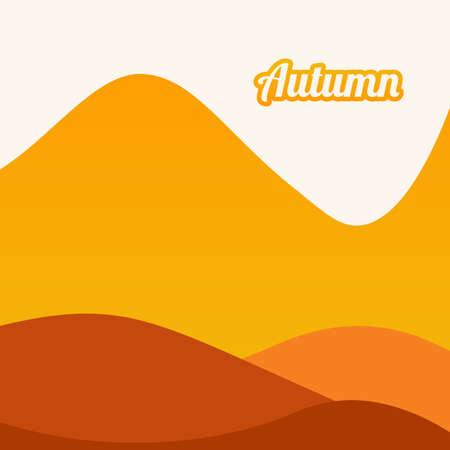 autumn landscape with mountain vector design template