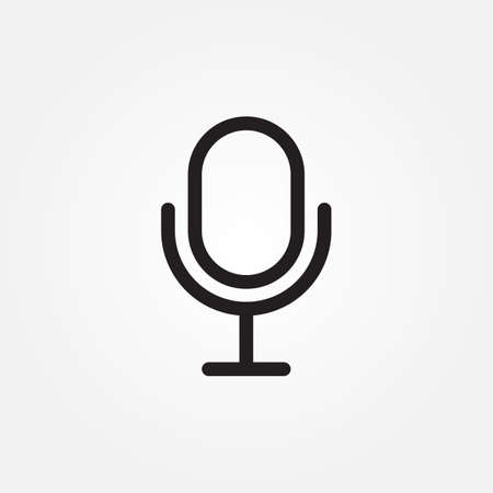 microphone icon design vector illustration