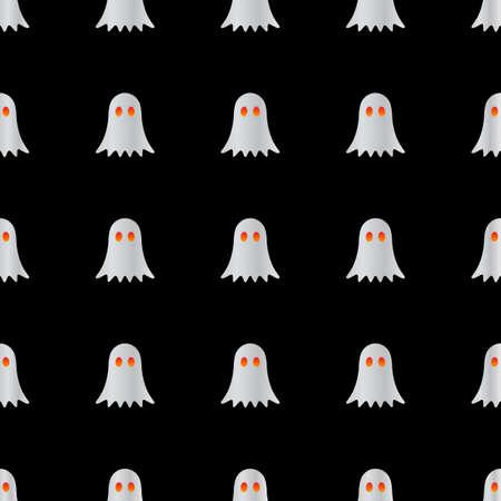 ghost halloween pattern design vector illustration Иллюстрация