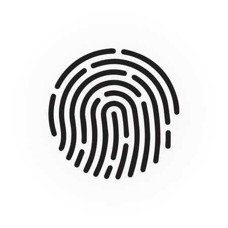 fingerprint icon vector isolated on white background Vector Illustration