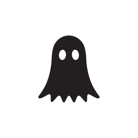 ghost icon design flat vector illustration Ilustrace
