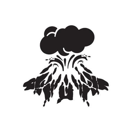 volcanic eruptions icon design illustration
