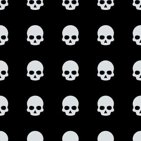 skull halloween pattern vector illustration