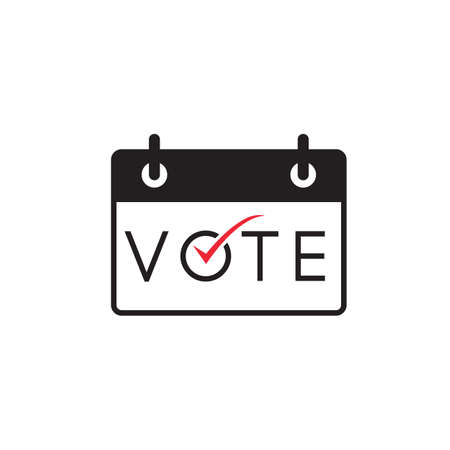 vote calendar icon symbol design vector