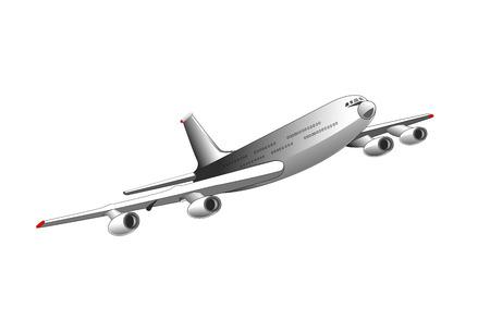 Illustration,   plane, passenger transport, isolated on a white background