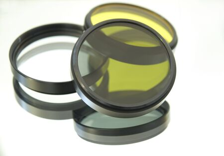 Photo, lens refracting light for the camera isolated on a white background Stock Photo - 8236754