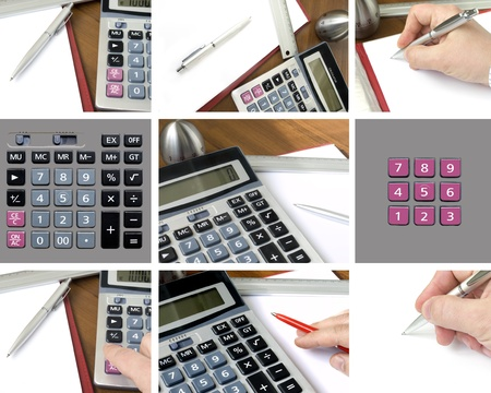 Business people working with documents and calculator Stock Photo - 9356778