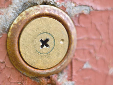 Photo of an old key chink at old doors photo