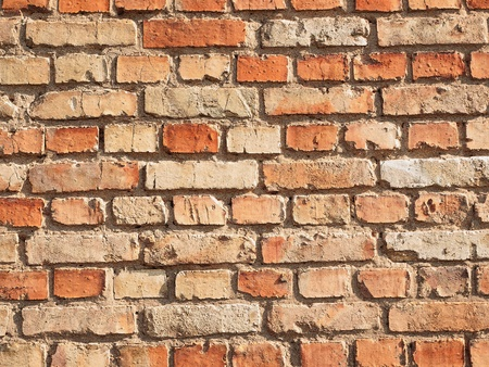 The wall of the deification of the brick, which put a lot of years ago Stock Photo