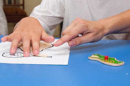 The hands of the child to get ones own way from the test