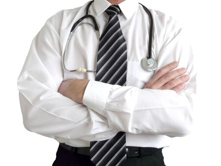 Man doctor with stethoscope