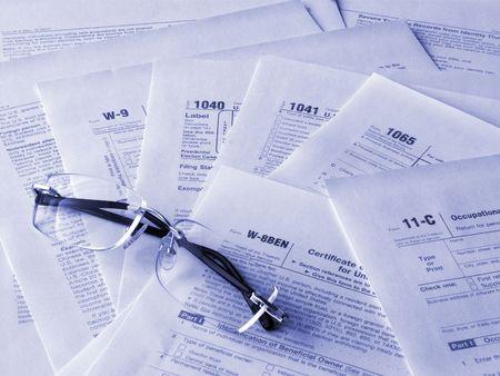 Taxes forms photo