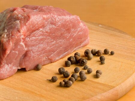 cow pea: Fresh meat with black pepper