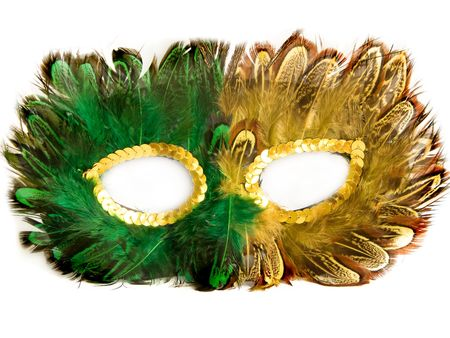 Carnival mask, isolated over white photo