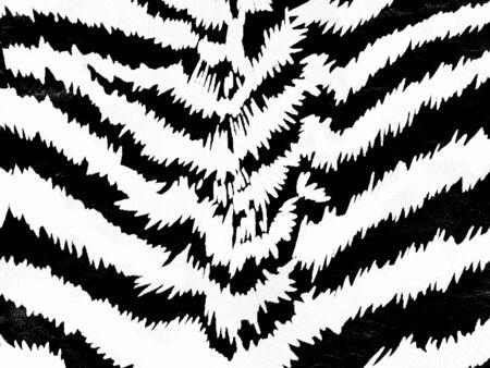 Zebra skin pattern on leather background photo