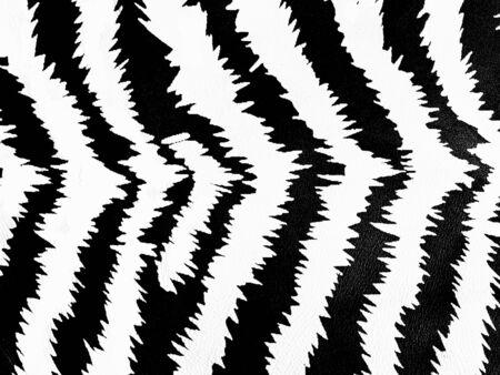Zebra skin pattern on leather background. photo