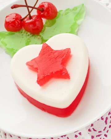 Heart-shaped dessert for Valentine's Day. Shallow dof. Stock Photo - 8668469
