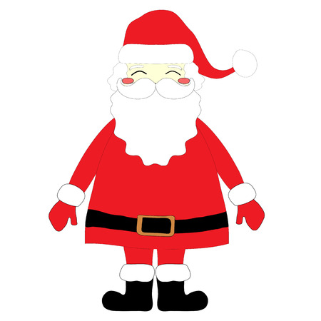 white bacjground: Santa Claus on white background. Vector illustration for Christmas greetings card. Stock Photo