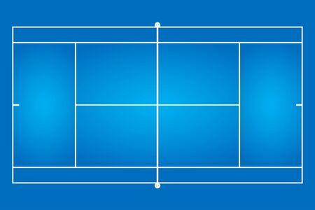 Modèle de modèle de court de tennis fond illustration vectorielle