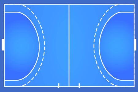 Handball indoor outdoor court background vector illustration layout
